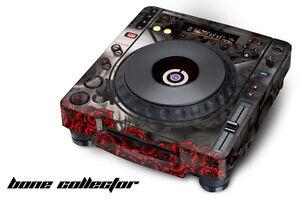 Skin Decal Sticker Wrap for Pioneer CDJ 800 MK2 Turntable Pro Audio Mixer BONES