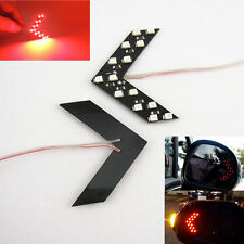 2x Red 14-SMD LED Arrow Panels For Car Side Mirror Turn Signal Indicator Lights