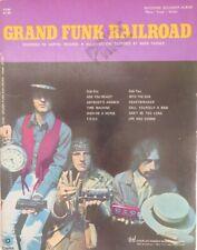 "Grand Funk Railroad Sheet Music Book ""Matching Souvenir Album""  RARE Mark Farner"