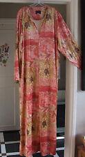 SPLENDID Long linea Zip-Up ROBE coral-pink Housecoat lounge-wear Vestaglia XL