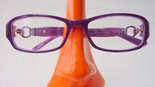 Fetzige lila Brille Damenfassung Kunststoff Gestell auffällig mit Decor Gr M