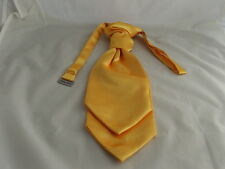 <Clearance Sale> 6 BOYS Yellow Gold Polyester Ruche Wedding Tie-Cravat-Pageboy