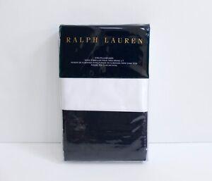 Ralph Lauren Wilford Tux White & Navy 2 Piece King Pillowcases