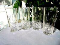 "Set of 4 Vintage High Quality Crystal Highball Glasses 5 3/4"" Tall"