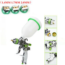 600ml  HVLP Gravity Feed SPRAY GUN Paint Clearcoat 1.4mm 1.7mm  2.0mm Nozzle