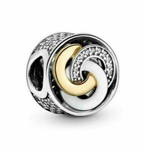 Genuine Pandora Sterling Silver ALE 925 Interlinked Circles Charm 792090CZ