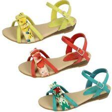 Calzado de niña sandalias de color principal rojo