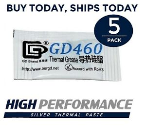 5PC LOT 0.5G High Performance Silver Thermal Paste Compound Grease CPU GPU Gray