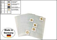 10 LOOK 1-435 Münzhüllen Münzblätter A4 15x  50x50mm Für Münzrähmchen