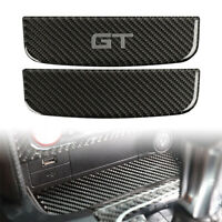 Carbon Fiber Interior Storage Box Trim Cover Fit For Ford Mustang 2015-2019 16