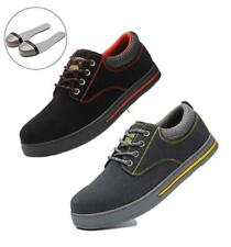 MENS SAFETY BOOTS TRAINERS SUEDE SHOES WORK STEEL TOE CAP HIKER UK SIZE  7 - 11