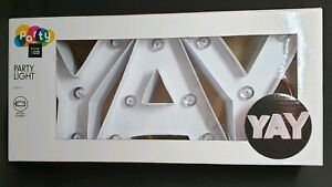 LED Letter Light - YAY - Plastic Battery Operated Party Night Light