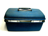 Vintage Blue Samsonite Saturn 400 Train Case Carry On Travel Luggage