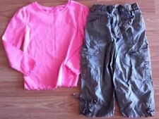 Girl's Size 3T Two Piece Neon Pink Garnimals L/S Top & Green Cherokee Pants