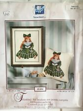 Cross Stitch Kit, Doll In Green Dress