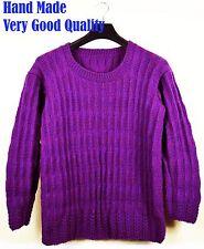 New hand made femmes violet pull pull 100% premium acrylique laine
