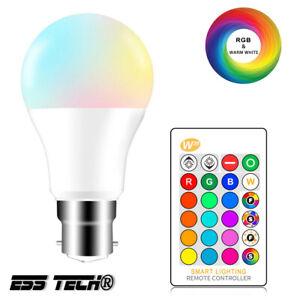 Ampoule E27 LED Couleur RGBW Lampe Ambiance télécommande distance ESS TECH®