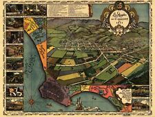 MAP LOS ANGELES 1871 VINTAGE 12 X 16 INCH ART PRINT POSTER PICTURE HP2200