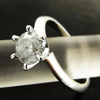 DIAMOND SOLITAIRE RING 1.18 ct GENUINE 18 K SOLID WHITE GOLD DESIGN VALUED $6550