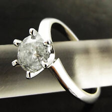 DIAMOND SOLITAIRE RING 1.08 ct  GENUINE REAL 18 K SOLID WHITE GOLD VALUED $6450