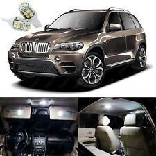 22 x Xenon White LED Interior Light Package Kit For BMW X5 Series E70 2007 -2013