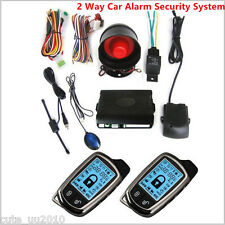 2X 2Way Car Alarm Security System LCD Super Long Distance Controlers Anti-theft