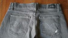 LEVIS Womens Ladies Stretch Jeans 7 M 32X32 DISTRESSED LOW RISE!! FLAWLESS!!!!!