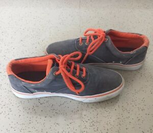 Sperry Top-Sider Men's Orange/Gray Canvas Sneakers 9.5 US size (42-43 Euro Size)