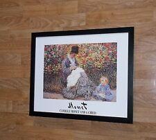 Camille monnet et enfant-claude monet poster-cadre 20''x16'', monet wall art