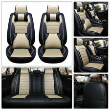 Us Luxury 5-Seats Car Seat Cover Pu Leather Front&Rear Suv Cushion Set Universal (Fits: Audi)