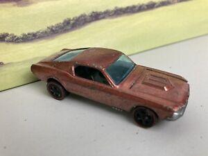 Hot wheels rare vintage Redlines 1968 Custom Ford Mustang in Spectraflame copper