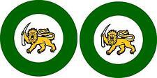 2x roundel flag air force aircraft rhodesia rhodesian aviation  army sticker