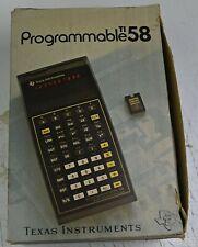 Texas Instruments TI 58  en boite + manuels et programmes