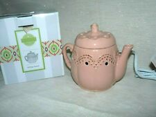 SCENTSY ELECTRIC WAX CANDLE WARMER VINTAGE PINK TEAPOT RETIRED NEW IN BOX