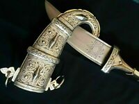 RARE Antique Vintage KHANJAR DAGGER JAMBIYA KNIFE SWORD Koummya Arabic Jambiya
