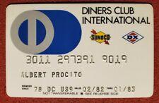 Diners Club International Sunono Dx credit card exp 1983 cc418
