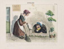 UNBEKANNT (19. Jhd.), Actualités, frz. Karikatur, nachkol. Lith.