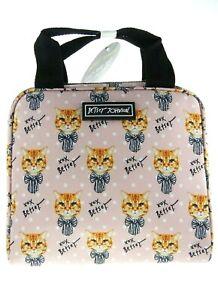 Betsey Johnson Pink Kitty Cat Lunch Tote American Shorthair Orange Tabby