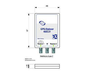 Antenne Bad Blankenburg GPS Signalverteiler 2 Receiver FAKRA 4605.01