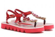 DOLCE & GABBANA Floral Crystal Embellished Sandals Sz 41, U.S 11 NIB