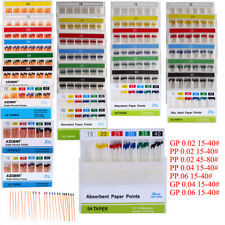 Dental Absorbent Paper Points Gutta Percha Points 02 04 06 15 40 Eodo Root
