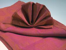 colorkitchen Tischdecke Pushpa mandarine - magenta 140x220 cm 100% Leinen
