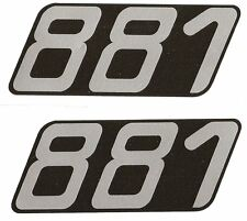 "MOBYLETTE "" 881 "" sticker paires 80mm x 30mm"