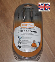 BELKIN USB Mini-B TO USB Mini-A ON THE GO CABLE LEAD - 1.8M - LED Status
