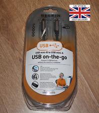 BELKIN USB Mini-B TO USB Mini-A ON THE GO CABLE LEAD - 1.8M - LED Status