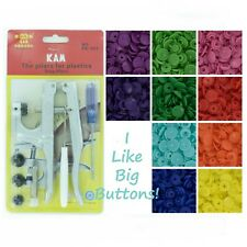 100 Rainbow Spectrum Starter Pack Kit/Pliers KAM Snap/Plastic Snaps/Cloth Diaper