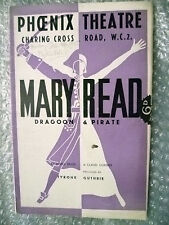 1935 Theatre Programme- Flora Robson in MARY READ by J Bridie