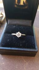 0.63ct Diamond Solitaire Engagement Ring 18k White Gold F/VS2