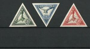 LATVIA SG219A-222A AIR IMPERF 1932 MNH/MOUNTED MINT