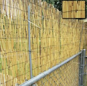 Natural Reed Fence Screening Roll Garden Fence Bamboo Fence 1.5M X4M For Privacy